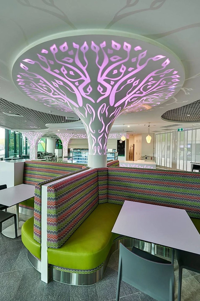 Perth Childrens Hospital booth seating