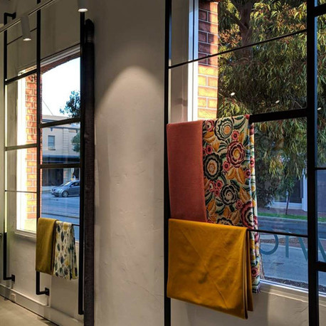 Warwick Hangings on Window and Gate