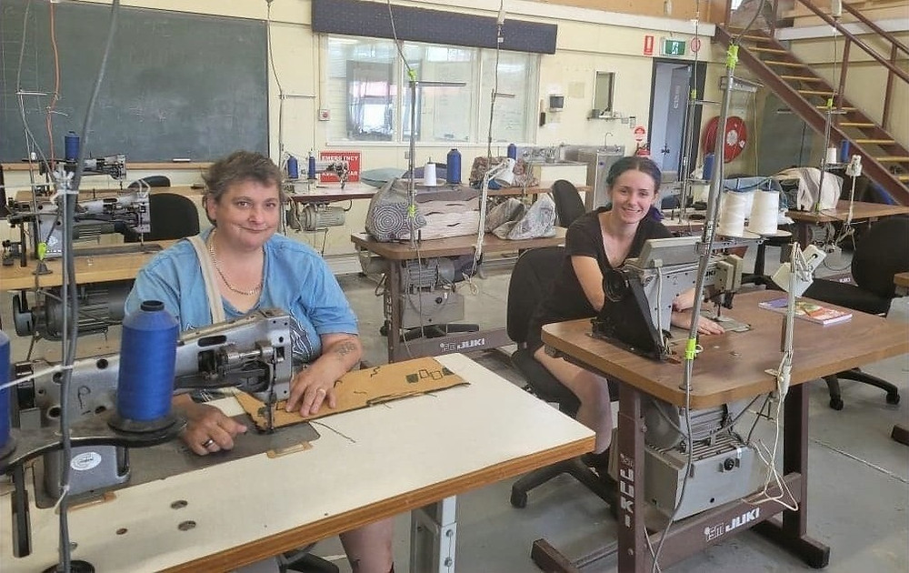 Artifex upholstery apprentices: Andrea and Robyn