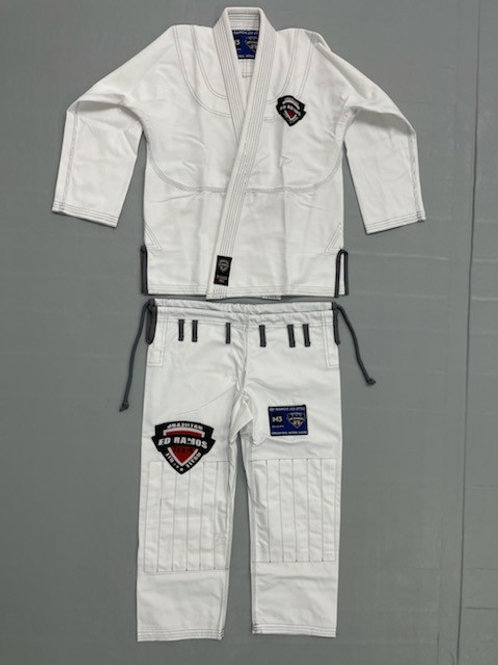 White Adult Branded Competition Gi
