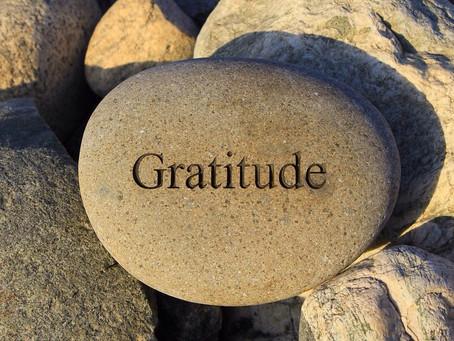 La gratitude en temps de restrictions.