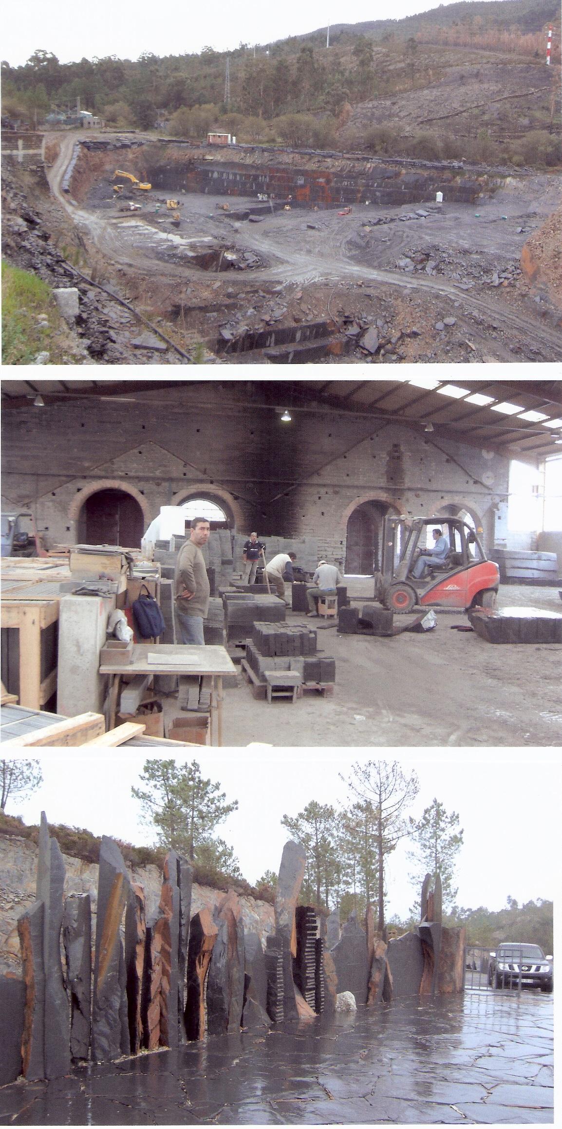 Usine d'ardoise au Portugal