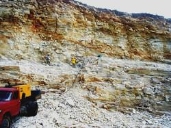 Carrière de quartzite du Brésil