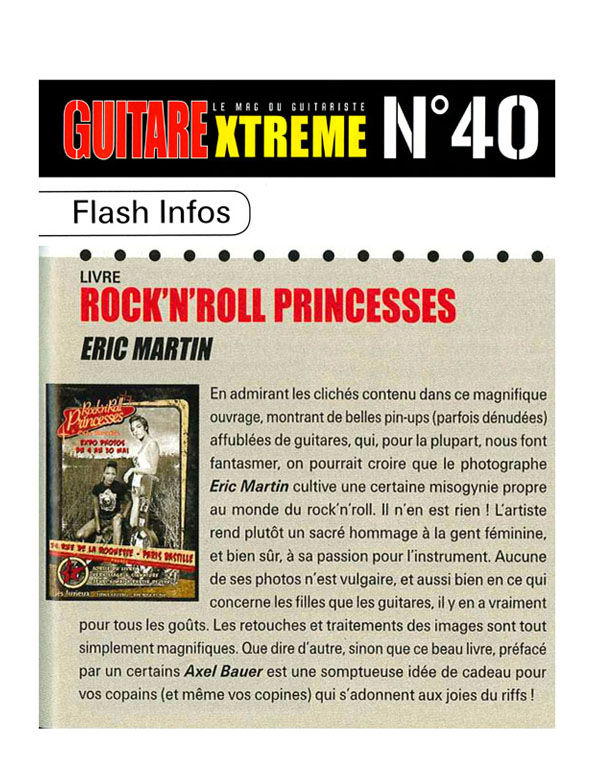 chronique Guitare Xtreme septembre 2010