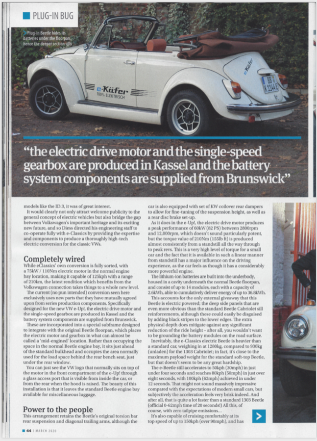 VOLKSWORLD MARCH 2020 eClassics article