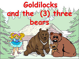 goldilocks three bears ESL powerpoint ppt story