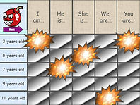 powerpoint ppt grid selection game template