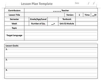 English ESL TEFL Lesson PlanTemplate