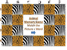 animal powerpoint ppt memory match game