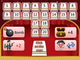 Circus Cups powerpoint ppt Bomb Game