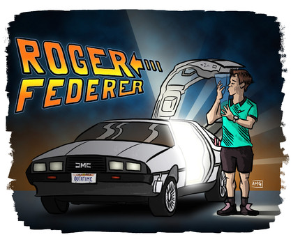 Federer viaja en el tiempo