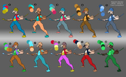 Character Color Compositions