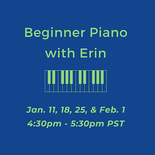Online Beginner Piano with Erin