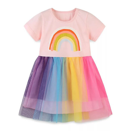 Ffroc enfys tw-tw / Rainbow tu-tu dress