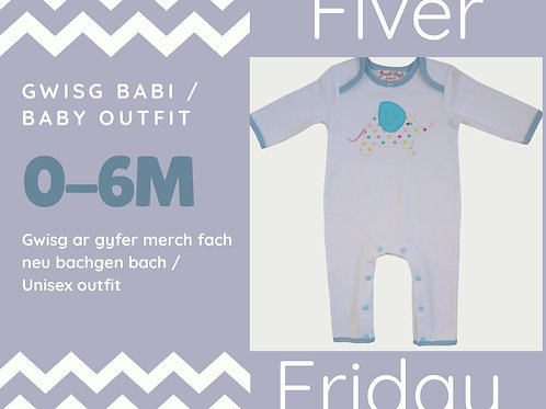 Gwisg Babi / Baby outfit (0-6m)