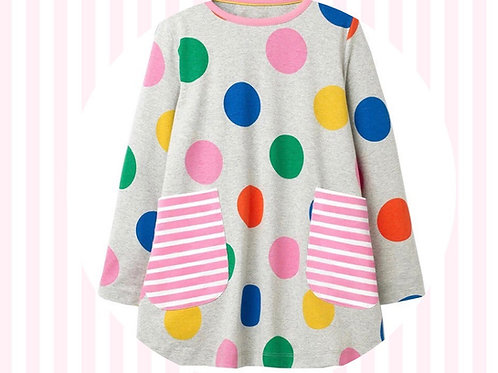 Tiwnic Smotiog / Spotty Tunic Dress