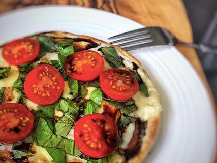 Pizza con balsamico