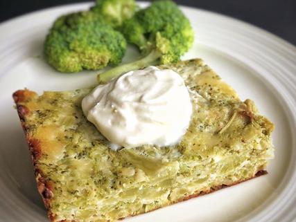 Quiche de brócoli sin costra