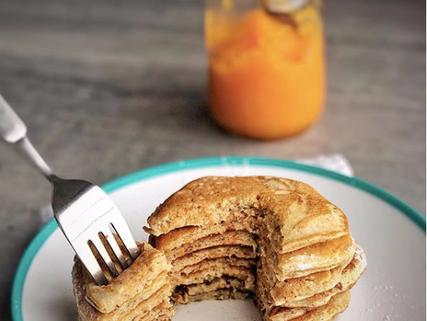 Hotcake de pumpkin con proteina