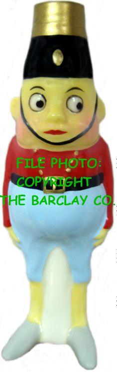 "#BC-066 - Palmer Cox Brownies ""Milk Glass"" Bulb Cover - Brownie Bellboy"