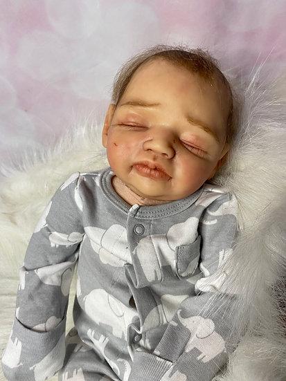 Layla Cuddle Baby, Suzette du Plessis, Sleeping Reborn, Combi Hair, Authentic, O