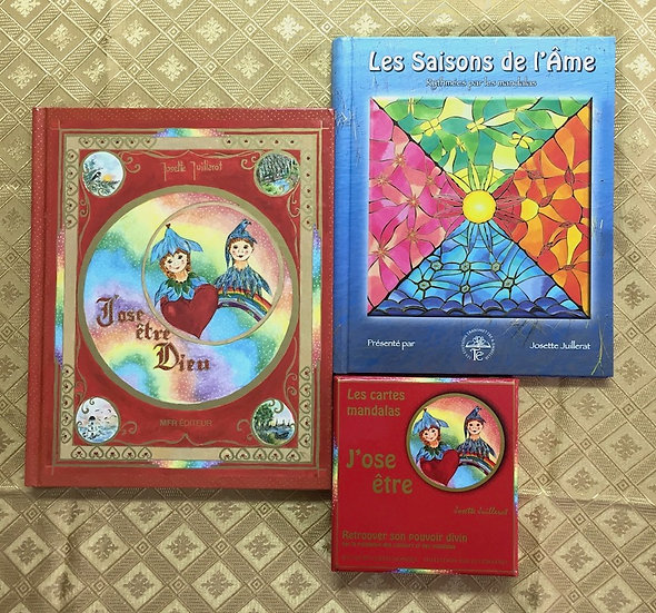 Combo: 2 livres + jeu par Josette Juillerat