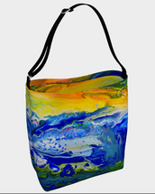 Sunset on cosmic sea Tote Bag