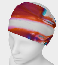 Power Abstract Pink and white Headband