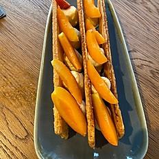 Mille feuilles abricot, crème romarin