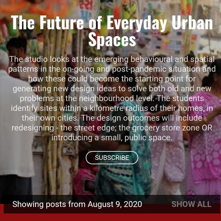 The Future of Everyday Urban Spaces
