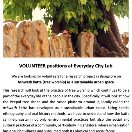 Volunteers at Everyday city lab
