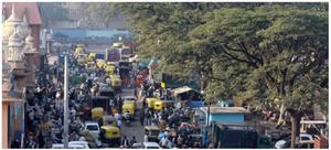 Russell market precinct in Shivajinagar, Bangalore