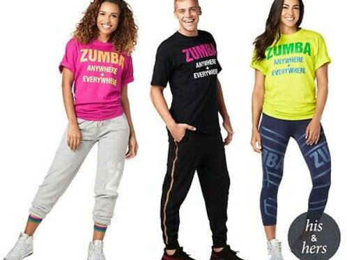 Zumba® Anywhere Everywhere Tee - Black ** 1 LEFT**