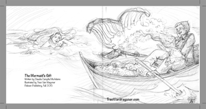 Traci Van Wagoner pencil sketch for The Mermaid's Gift
