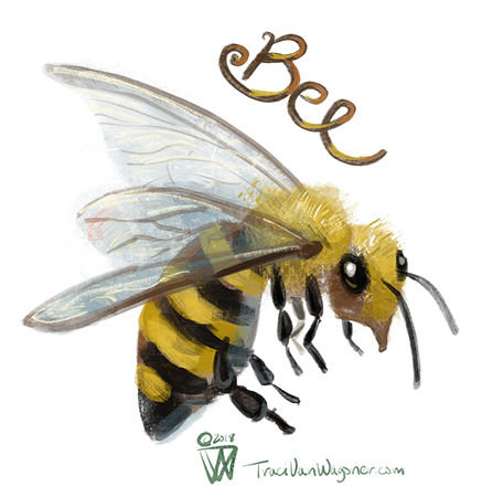 Bee art by Traci Van Wagoner