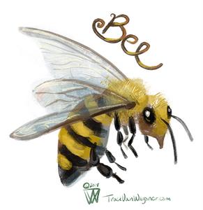 Bee art by Traci Van Wagoner