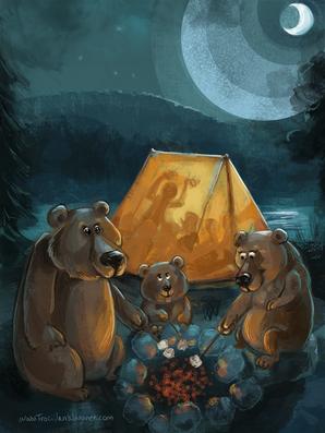 Camping and Three Bears