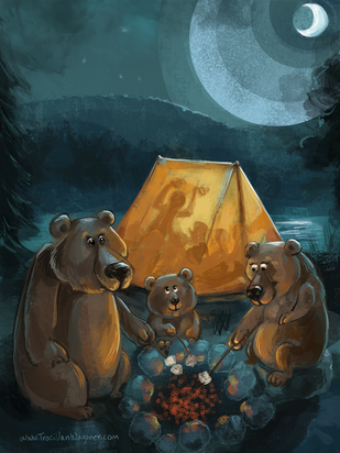 Camping and Three Bears