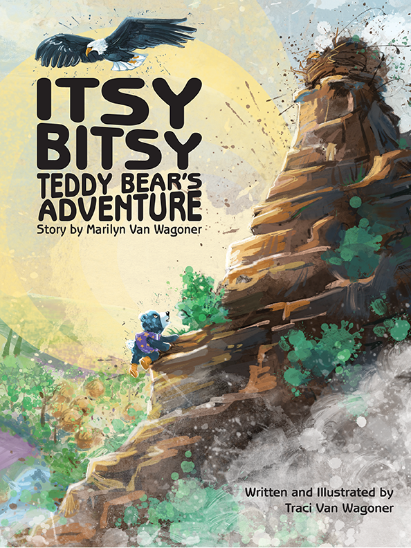 Cover illustration and design for the picture book Itsy Bitsy Teddy Bear's Adventure