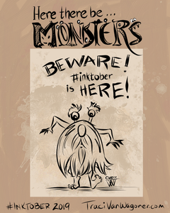Inktober Monsters 2019