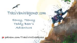 Embarking on an adventure. Eensy, Teensy Teddy Bear's Adventure