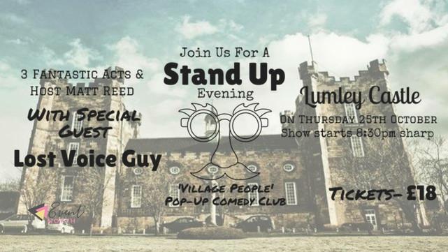 Britain's Got Talent Winner headlines pop up comedy event at Lumley Castle