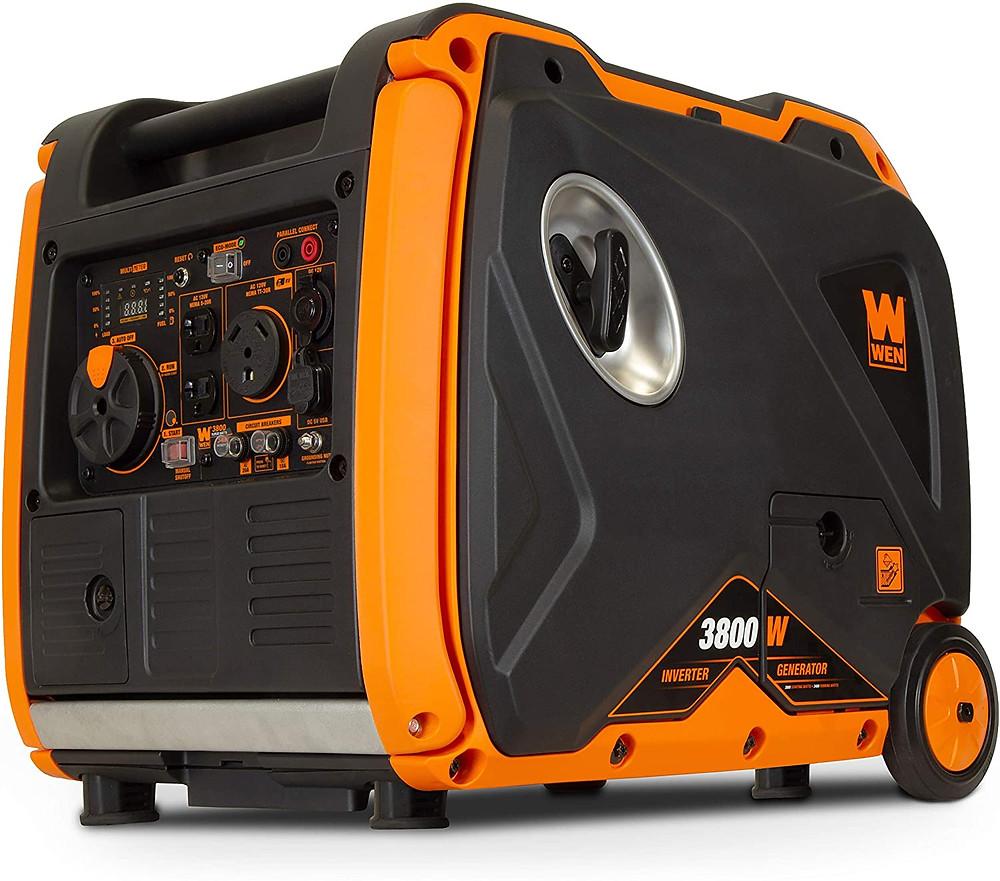 Quiet generator for food trucks - WEN 56380i Super Quiet 3800-Watt Portable Inverter Generator