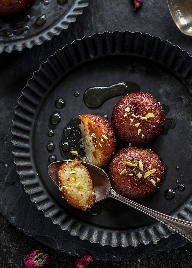 Street food desserts: Gulab jamun