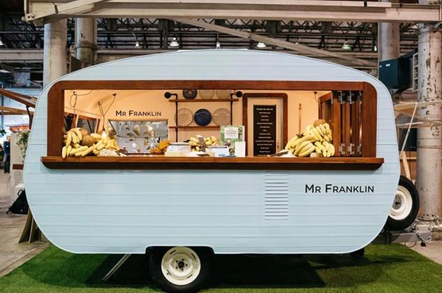 Vintage caravan food truck