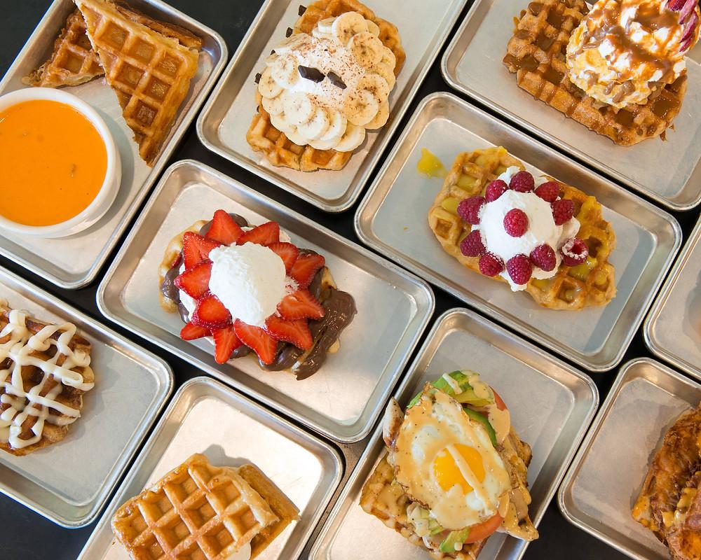Food truck breakfast menu ideas - waffles