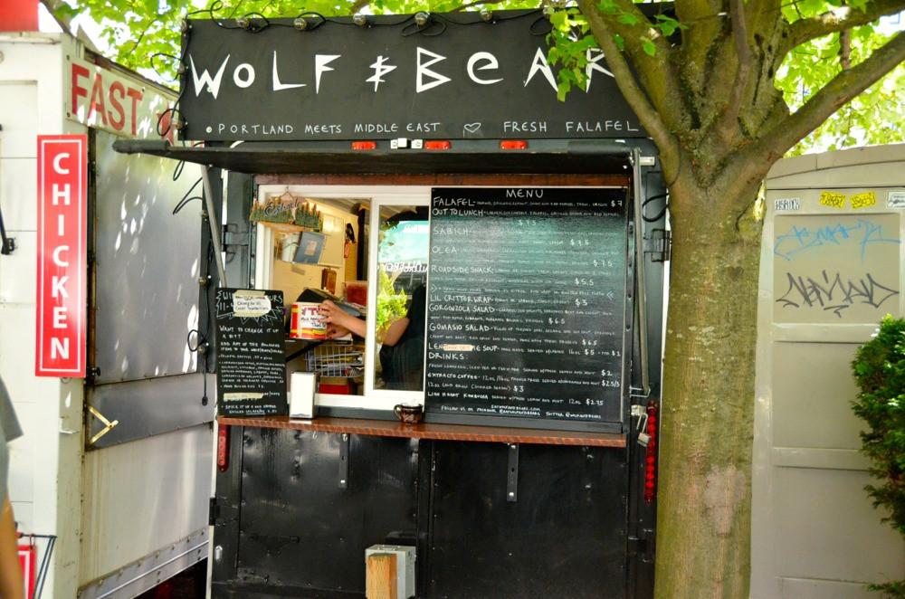 vegan street food stall