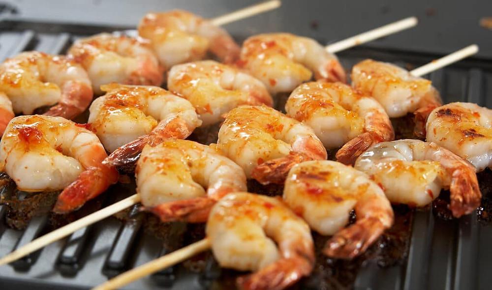 BBQ Food Truck Menu Ideas - king prawns