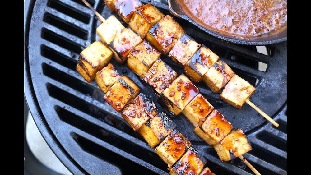 BBQ Food Truck Menu Ideas - tofu skewers