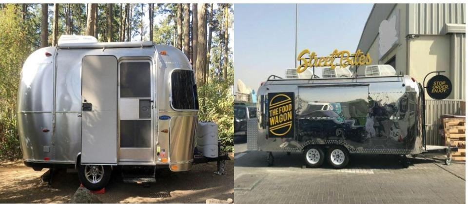 Types of vehicles used for food trucks - Air stream